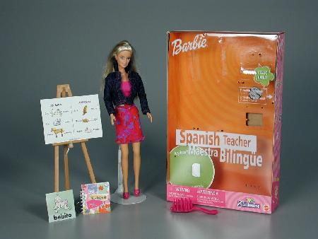 Barbie Spanish teacher. How many jobs does she have?