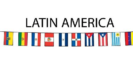 Some of the most Latin American flags.