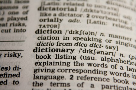 Picture of a dictionary